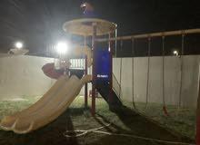 Outdoor playground available لعبة خارجية