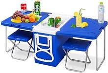 طاولة للرحلات سهلة الطي والاستخدام متوفرة بعدة الوان