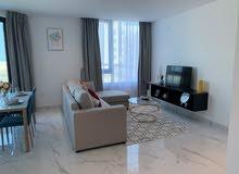 للإيجار شقة غرفتين مفروشة بالكامل جديدة كلياً في مبنى جديد في منطقة السيف