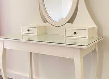 طاولة زينة مع مرآءة., أبيض 100x50 سم