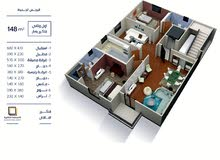 شقة 148 متر للبيع في النرجس الجديدة.
