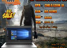 HP ELITEBOOK 840 G2 كورI5 الجيل الخامس رمات 8 جيجا /لهواة لعبة بابجي