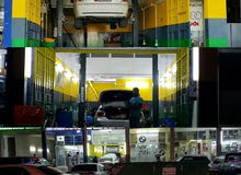 للبيع كراج تربترونيك مع كل معداته ومع عامل