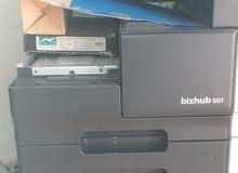 مكينة تصوير bizhub 501 ابيض واسود مستعملة  للبيع