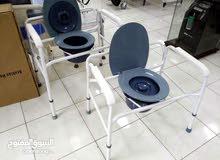 كرسي مقعدة حمام اوزان ثقيلة جدا متنقلة جديد جديد!!