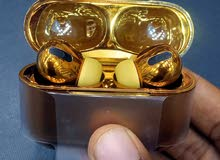 سماعات ابل اصلية بجودة عالية اللون الذهبي Apple Airpods original Gold