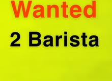 Wanted 2 barista to work in new coffee shop