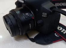 كاميرا كانون في حالة الجديد استعمال بسيط مع كامل محتوياتها 650d