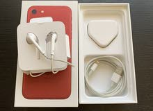 i phone 7 red, 128gb, original box and with headphones, charging cable and plug!