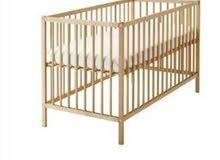سرير اطفال خشب من ايكيا