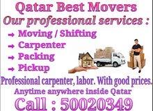 Moving, packing, carpenter, pickup service