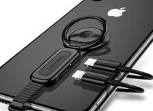 USAMS 2in1 Converter Adapter Ring Holder For Lightning + 3.5mm Audio For iPhone