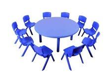 طاولات وكراسي جميع الاشكال للحضانات ورياض الأطفال