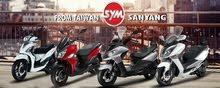 SYM motorbike made in 2017