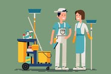 عاملات نظافة وحراس آمن كفائة وانظباط وتوقيت مستمر