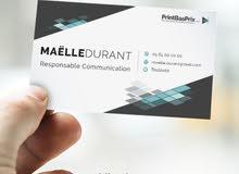 """تصميم كرت فيزيت """"بطاقة عمل"""" """"تجاري او شخصي"""
