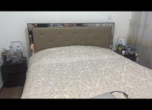 سرير كينج  مع طاولتين  king size bed new with side table