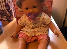 Baby NURSING Big working machine Girl doll, height 40 Cm, complete wear+Titina