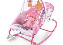 كرسي وسرير اطفال 2*1 بناتي