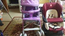 عربة اطفال وكارست بحالة ممتازة للبيع