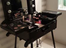 black  - Makeup trolley stand case