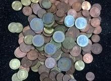 عملة يورو معدن