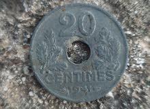 20 centimes 1941 etat francais