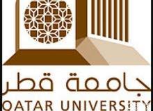 عمل بحوث علمية جامعية في قطر.