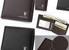 محفظة جلد أصلي ( قياس 11.5X9.5X1CM)