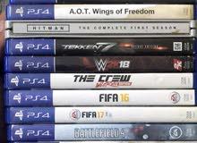 ألعاب و أيد PS4 للبيع