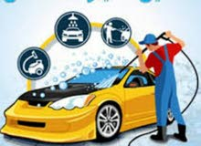 خدمات غسيل السيارات المتنقل.