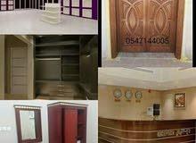 منجره اعمال خشبيه لتنفيذ جميع الاعمال الخشبيه  ونسعد بخدمتكم 0547144005