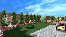 تنسيق الحدائق اعمال تنسيق الحدائق زراعة نجيل