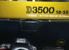 كاميرا نيكون دي 3500مع عدسة 18-55