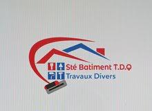 شركة BÂTIMENT T.D.Q تعمل على الأشغال المختلفة، الجبس، وجميع الفنيسيو البناء