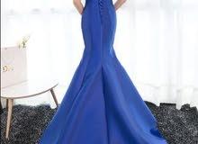فستان سهرة لون (فوشي) جديد للبيع