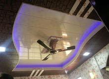 تركيب السقوف الثانوية والجدران الجبسية والديكورات