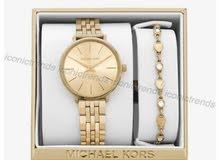 ساعة مايكل كورس اصلية مع سوارتها اصلية بقراطيسها