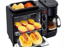 ماكينة إعداد الإفطار 3 في 1 متعددة الوظائف: الشواء - الخبز المحمص - القلي - الشو