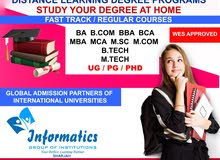 DISTANCE EDUCATION DEGREE COURSES-STUDY FROM HOME-FAST TRACK/REGULAR MODE