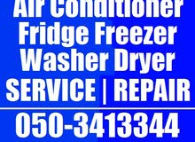 All Brands Ac Fridge Washing Machine Dryer Repairing Works in Dubai