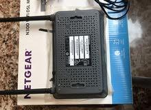 Netgear N300 Wifi dsl modem router للبيع بحالة شبه جديدة