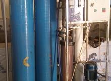 محطة تصفية مياه سعة  500  لتر/ساعة  مع  خزانيين سعة  3000 لتر