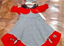 فستان بنات من عمر سنتين إلى ستة سنوات