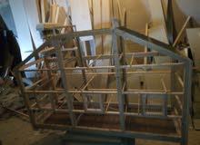 قفص سيري له حاجزين طول 160 سم ارتفاع 105