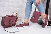 حقيبة وحذاء وجزدان