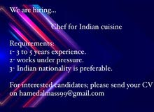Indian style restaurant is looking to hire a cook Job