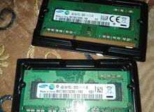 رامات لابتوب ddr3سعة 4 جيجا pc3l 12800sتردد 1600