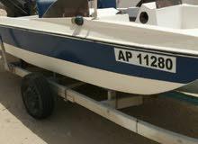 قارب 16 قدم ماكينه ميركورى 90 بحاله ممتازه