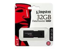 Kingston data traveler 100 32gb USB 3.1 فلاش ميموري